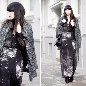 Shattered Glass Graphic Sheer Maxi-  Divided/H&M